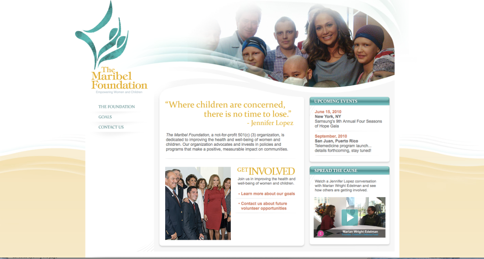 The Maribel Foundation website