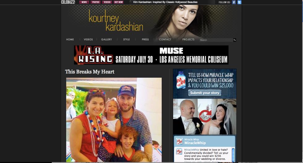 Kourtney Kardashian Joshua and Robin Berry Children's Trust website
