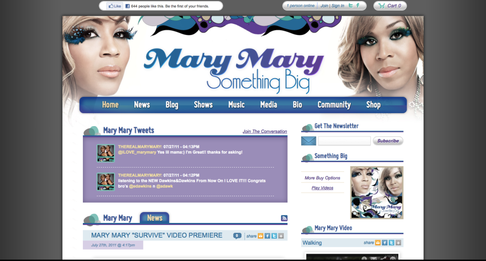 Mary Mary website