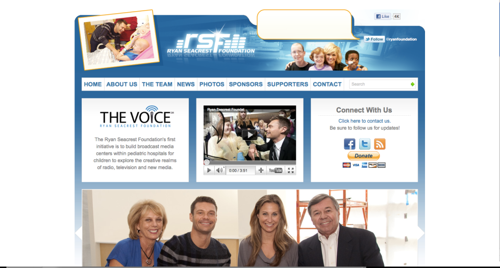 Ryan Seacrest Foundation website
