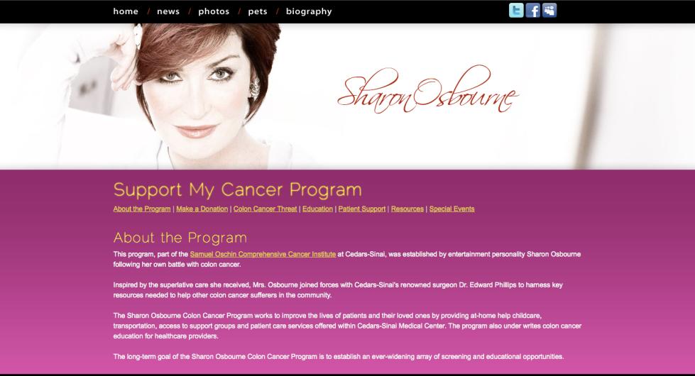Sharon Osbourne website