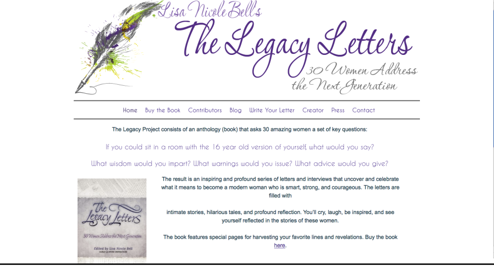 Legacy Letters website
