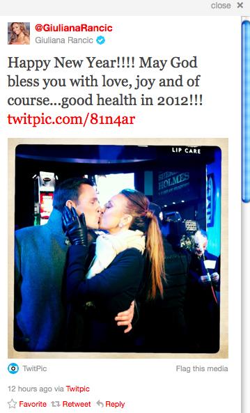 Giuliana Rancic's Happy New Year tweet (Source: Twitter)